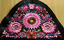 Antique miao hmong tribal flower camber delicate machinemade embroidery 23032