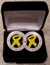 French Cuff Links Operation Iraqi Freedom with Gift Box