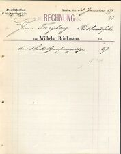 MINDEN i. W., Rechnung 1879, Destillation und Mostrichfabrik Wilhelm Brinkmann