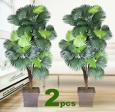 TWO 6' Fan Palm  x5 Artificial Tree Silk Plant NEW, with No Pot