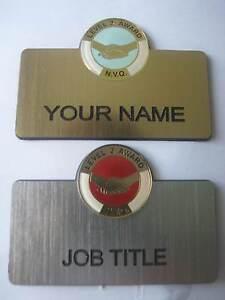 Engraved - NVQ Qualification Awards 2 & 3 Lapel Badges - ADD NAME / JOB TITLE