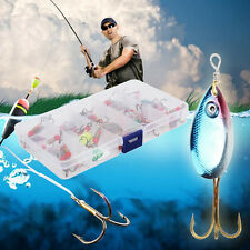 Lot 30pcs Colorful Trout Spoon Metal Fishing Lures Spinner Baits Bass Tackle QE