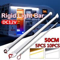 10X 50CM 5630 LED Under Cabinet Lamp Strip Hard Light Tube Rigid Hard Bar 12V 9W