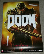 New Doom 2016 Official A1 Size Double Sided Promotional Poster PS4 XBOX One PC
