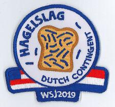 2019 World Scout Jamboree HOLLAND DUTCH SCOUTS Contingent Patch - HAGELSLAG