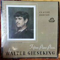 Debussy 15 Piano Pieces  Walter Gieseking  Mono  Angel 35026  M-