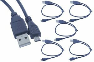 5x 1.5FT Samsung USB2.0 Micro USB Charger Charging Data Sync Charge Cable Cord