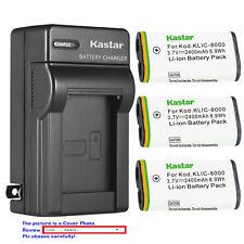 Kastar Battery Wall Charger for Kodak KLIC-8000 Kodak Pocket Video Camera ZX1