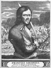 Francois L'Olonnais French Roovers Pirates 1649 Tortuga Haiti 6x5 Inch Print