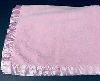 Child of Mine Carters Blanket Pink Thank Heaven for Little Girls Bears Satin