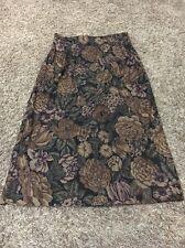 Briggs New York Size 10P Petite Brown & Black Floral Micro Fiber Career Skirt