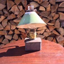 RARE – Plume & Atwood Kerosene Lamp–Square Tin Font – Center Draft Burner 1800s