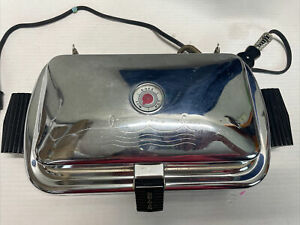 Vintage Electric Dominion 1218-A Waffle Maker Flat Grid