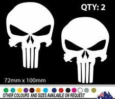 2 x PUNISHER SKULL  sticker decal car , laptop, bike, skateboard