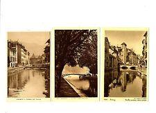 CPA 74 Haute-Savoie Annecy Lot de 3 cartes