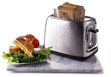 Quiseen Sandwich Toaster Toast Bags, Non-Stick, Reusable, Heat-Resistant - 2 pcs