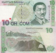 Kyrgyzstan 10 Som Crisp UNC Banknote