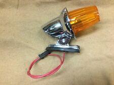 International, IH NOS chrome factory cab marker light, lamp, amber #861 799 R9