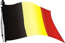 Autocollant drapeau Belgique 30 x 20 cm pour auto caravane camion bateau