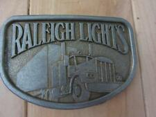VINTAGE RALEIGH LIGHTS BELT BUCKLE SEMI TRUCK CIGARETTES