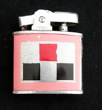 Vtg Pacton Pac Cigarette Lighter Pink Checker Board Made in Japan Collectable