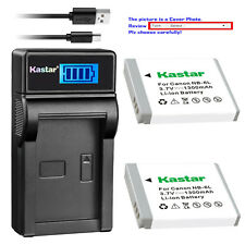 Kastar NB-6L NB6L Battery Charger for Canon PowerShot SX270 HS SX280 HS SX500 IS