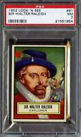 1952 TOPPS LOOK 'N SEE #81 SIR WALTER RALEIGH PSA 7  *DS8474