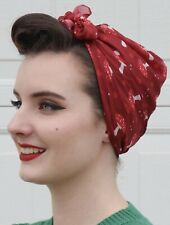 Erstwilder THE SPORE THE MERRIER HEAD SCARF NIP Red toadstools