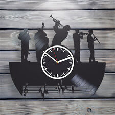 Vinyl Record Wall Clock musical notes Gift ideas for boys and girls unique decor