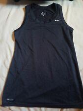 Womens Nike Medalist Running Dri Fit Tank Top Xs Black