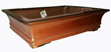 "Bonsai Pot Rectangular 18"" Rusty-Red w/a Distinct Copper Sheen"