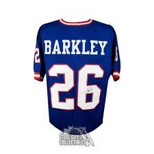 Saquon Barkley Autographed New York Giants Throwback Custom Football Jersey  JSA 0b111dc00