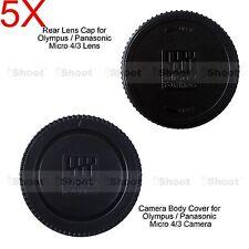 5x M4/3 Rear Lens Cap +Micro 4/3 Camera Body Cover for Olympus OMD EM1 EM5 EM10