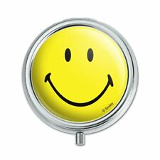 Smiley Smile Happy Yellow Face Pill Case Trinket Gift Box