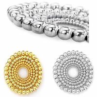 Wholesale^100/500pcs Silver Gold Plated Metal Round Ball Spacer Beads 4/5/6/8mm