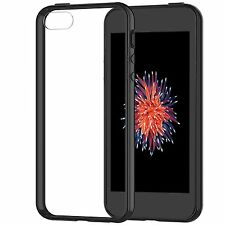 iPhone SE Case Cover Shock-Absorption Bumper Clear Back for iPhone 5s 5 Black
