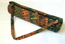 New Indian Handmade Multi Camel Mandala Yoga Mat Carrier Bag With Shoulder Strap