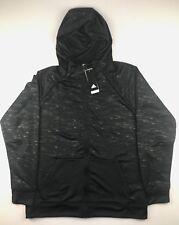 Adidas Mens Size 2XL Black Electric Full Zip 3 Stripe Life Sweatshirt Hoodie $80