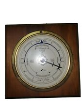 Brass Tide Clock Downeaster Mfg Co Wooden Frame Usa Cape Cod