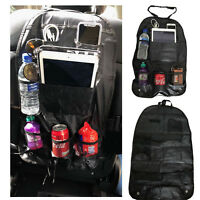 Car Seat Organiser Back Tablet Storage Tidy Travel iPad Holder Mesh Multi Pocket