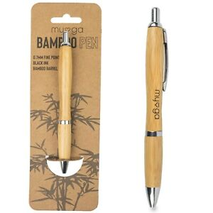 Ballpoint 0.7mm Fine Point Black Ink Writing Natural Eco-Friendly Bamboo Pen