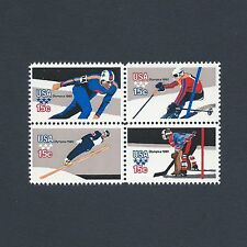 1980 Winter Olympics USA at Lake Placid 37 Year Old Mint Set of 4 Stamps L@@K!