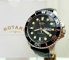 Mens ROTARY watch Divers Style Mineral glass Luminous Day&Date  RRP£190 Boxed