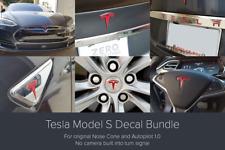 Tesla Model S Decal Bundle for original Nose Cone & Autopilot 1.0 - Red