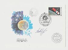 Flown Mir Cover USSR Japan Soyuz TM-11 signed by cosmonaut V. Afanasyev