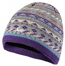 Sealskinz Waterproof Meadow Beanie Hat - Grey/Purple, 2X-Large