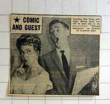 1957 Comedian Alan Young With Singer Marion Ryan Personal Appearance Granada Tv