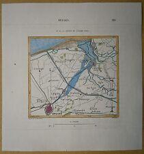 1879 Perron map: Bruges Brugge with ancient Zwin, Flanders, Belgium (#31)