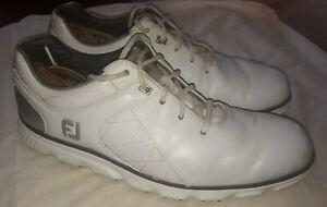 FootJoy Pro SL Cleats Men's White/Gray Used 10.5