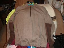 F&g Tech Pullover Shirt 1/2 Zip size L Mens Brown